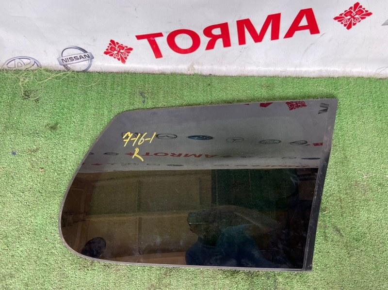 Стекло собачника Toyota Corolla Fielder NZE141G 1NZ 2006 правое
