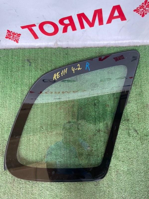 Стекло собачника Toyota Spacio AE111N 4A правое