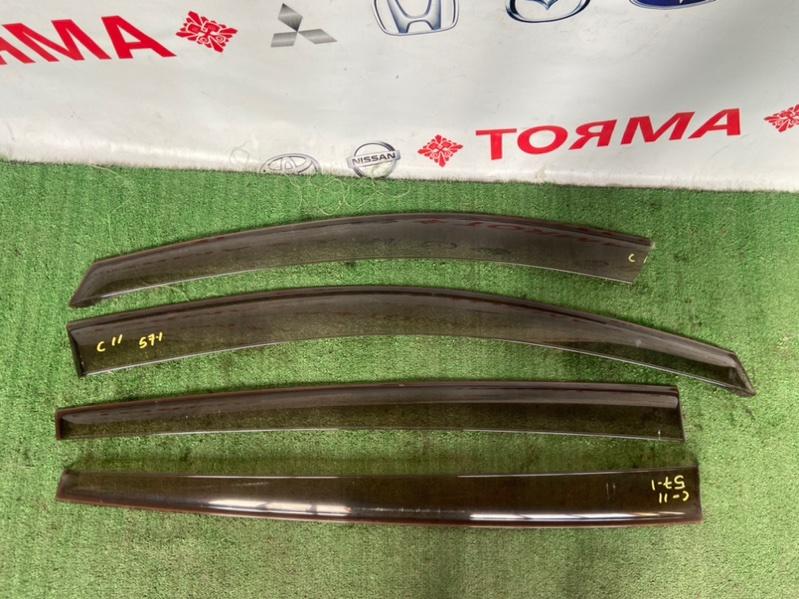Ветровики комплект Nissan Tiida C11 HR15
