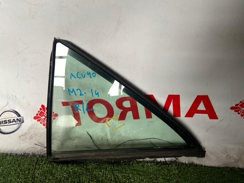 Стекло двери Toyota Camry ACV40 заднее левое