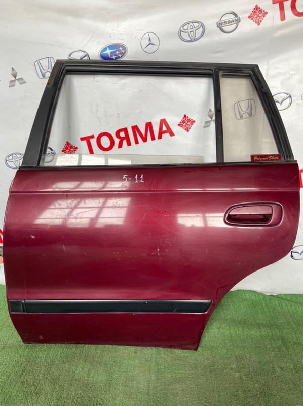 Дверь Toyota Caldina AT191 3S 1995 задняя левая