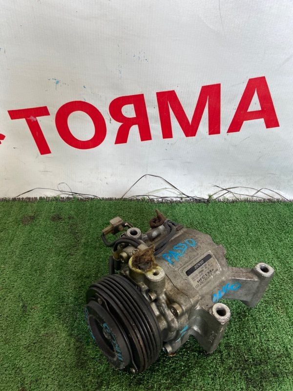 Компрессор кондиционера Toyota Boon KGC10 1KR-FE 2004