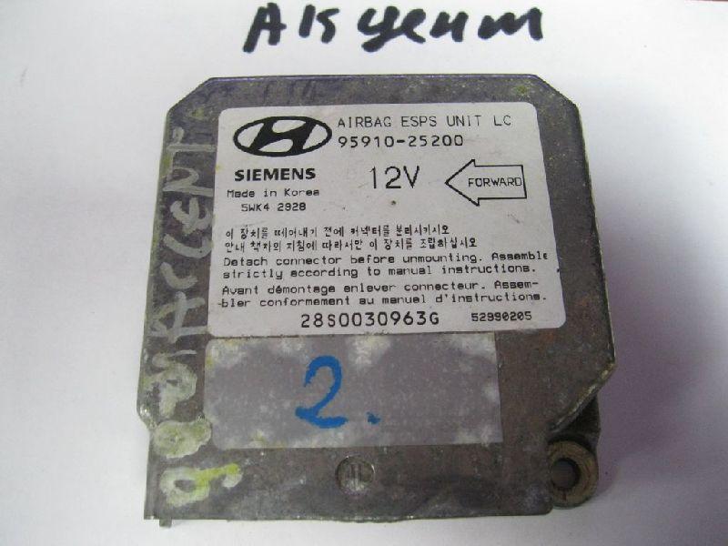 Блок управления аирбаг Hyundai Accent AV G4EH 1999 (б/у) 9591025200