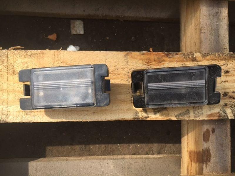 Фонарь подсветки номерного знака Mitsubishi L200 2005- KB4T 4D56 2005 задний (б/у) MN146839