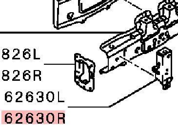 Суппорт радиатора Mitsubishi Lancer 10 CY1A 4A91 2007 5215A200