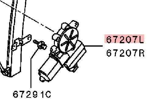 Мотор стеклоподъемника Mitsubishi Lancer 9 CS1A 4G13 2000 2001 2002 2003 2004 2005 2006 2007 2008 2009 2010 2011 (б/у) MR991831