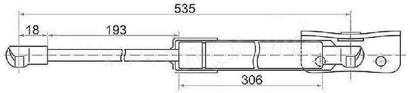 Амортизатор багажника Mitsubishi Outlander 3 GF2W 4B10 2012 5802A376