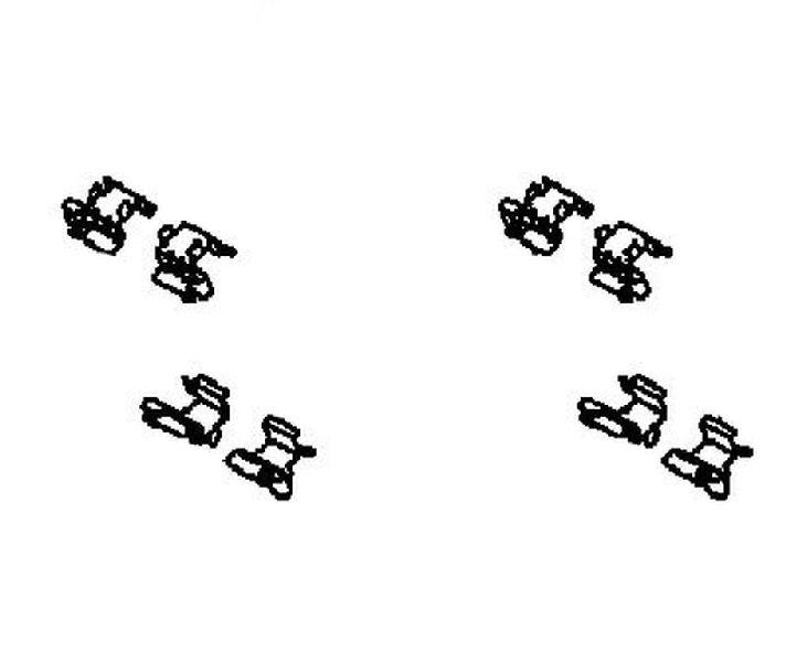 Тормозные колодки Mitsubishi Outlander 3 GF2W 4B10 2012 заднее 4605B563