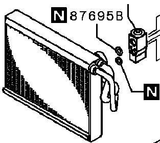 Радиатор кондиционера Mitsubishi Outlander 3 GF2W 4B10 2012 (б/у) 7810A299