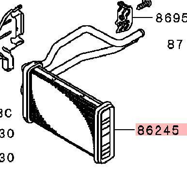 Радиатор печки Mitsubishi Outlander 3 GF2W 4B10 2012 (б/у) 7801A857
