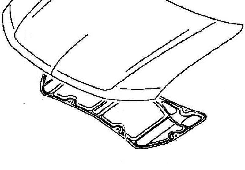 Шумоизоляция капота Mitsubishi Outlander 3 GF2W 4B10 2012 5915A120