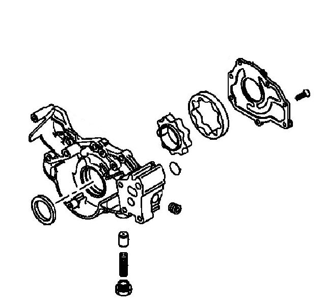 Насос масляный Mitsubishi Pajero Sport 1 K97W 4D56 1998 (б/у) MD308625