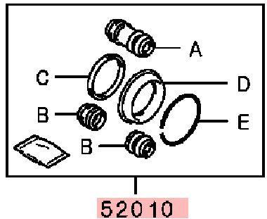 Ремкомплект суппорта тормозного Mitsubishi Pajero Sport 1 K97W 4D56 1998 MR307786