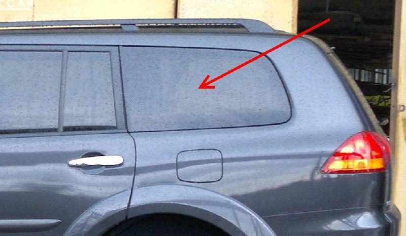Стекло кузова Mitsubishi Pajero Sport 2 KH4W 4D56 2008 2009 2010 2011 2012 2013 2014 2015 заднее левое NATIVA08SWLHX