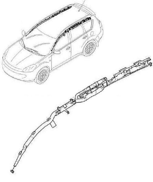 Аирбаг боковой Citroen Универсальные левый 833555