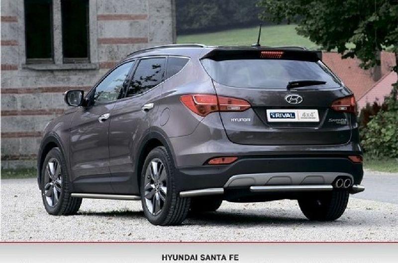 Защита бампера Hyundai Santa Fe 3 B8 2012 R.2306.009