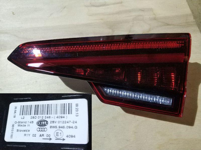 Фонарь в крышку багажника Audi A4 2017 задний правый (б/у) 8W5945094G