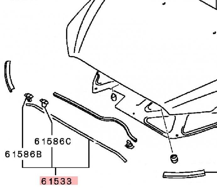 Уплотнительная резинка Mitsubishi Lancer 10 CY1A 4A91 2007 5902A021