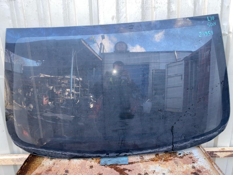 Стекло заднее с подогревом Mitsubishi Lancer 10 CY1A 4A91 2007 заднее (б/у) 6131A089