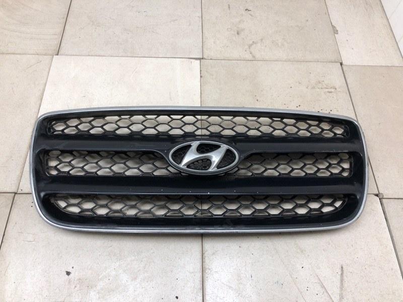 Решетка радиатора Hyundai Santa Fe 2 BM 2.0TD 2006 2007 2008 2009 2010 (б/у) 865612B010