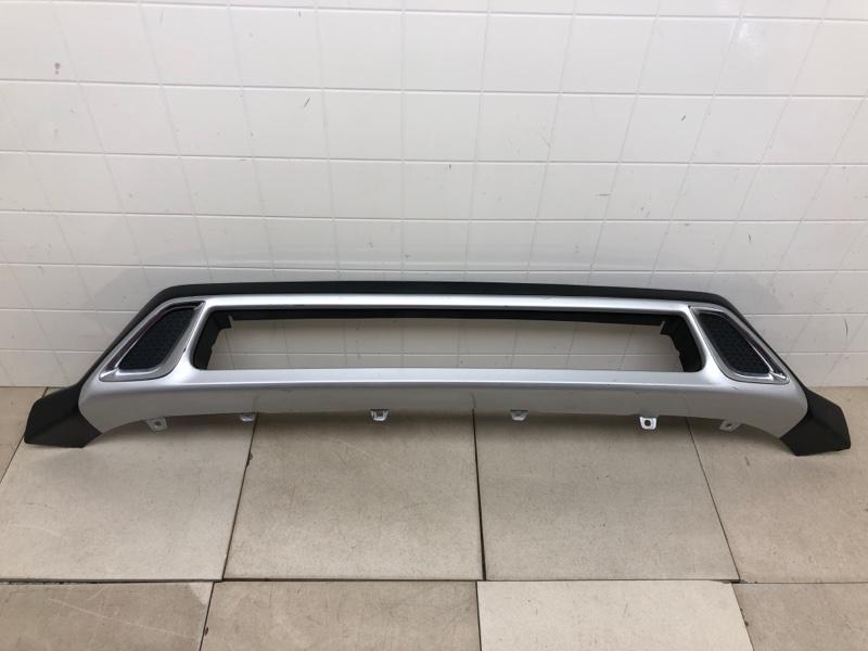 Накладка на бампер Mitsubishi Outlander 3 GF2W 2019 передняя (б/у) 6405A269HA