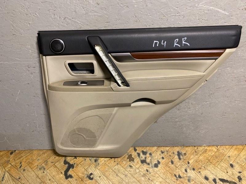 Обшивка двери Mitsubishi Pajero 4 V83W 2006 задняя правая (б/у) 7222A190