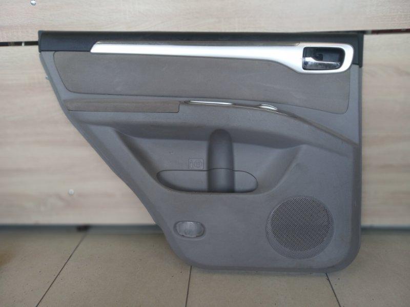 Обшивка двери Mitsubishi Pajero Sport 2 KH4W 4D56 2008 2009 2010 2011 2012 2013 2014 2015 задняя левая (б/у)