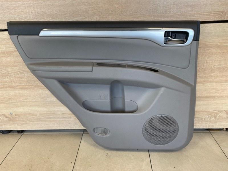 Обшивка двери Mitsubishi Pajero Sport 2 KH4W 4D56U 2008 задняя левая (б/у)