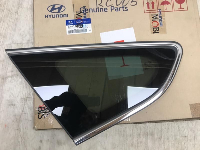 Стекло кузова Hyundai Santa Fe 3 DM D4HB 2012 заднее левое