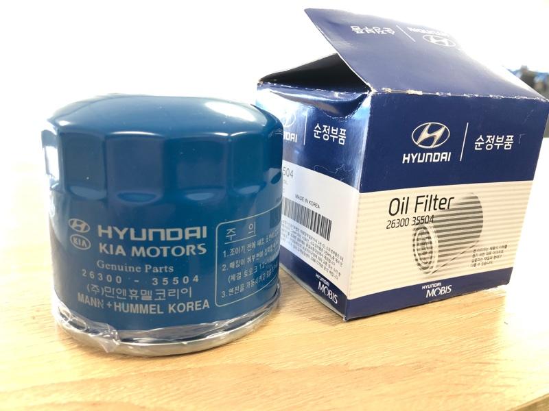 Фильтр масляный двигателя Hyundai Solaris 1