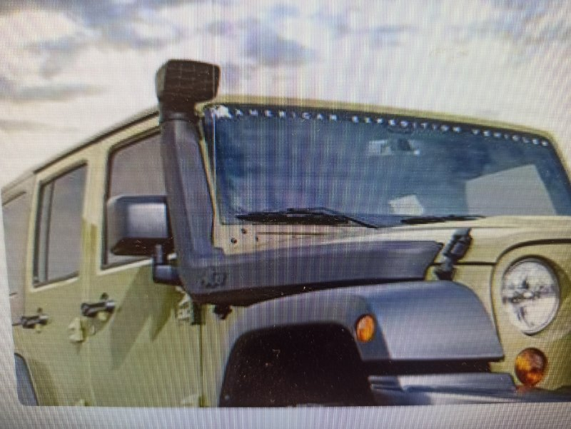 Воздухозаборник воздушного фильтра Jeep Wrangler JK 2007 (б/у)