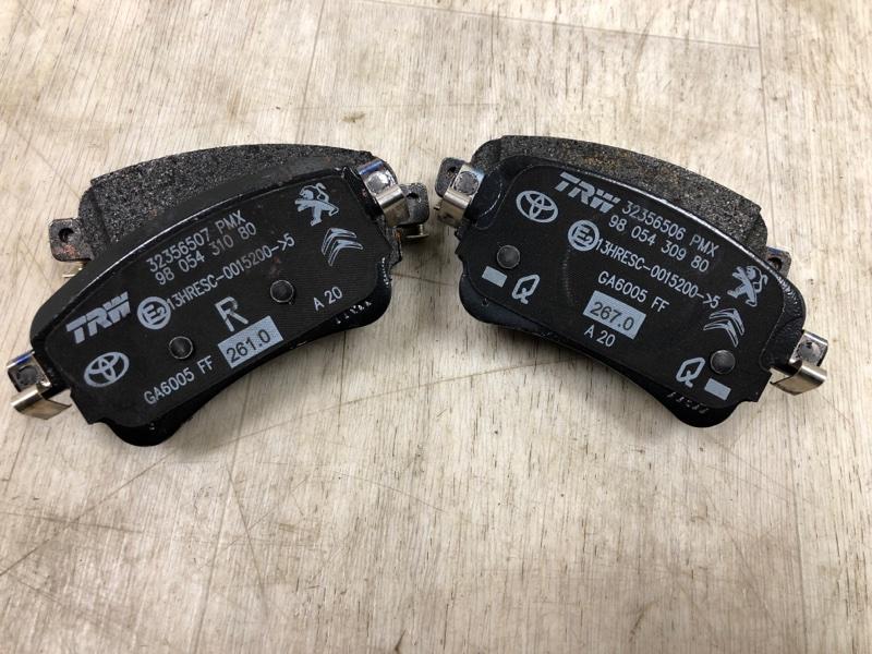 Тормозные колодки Peugeot Travaller заднее (б/у)