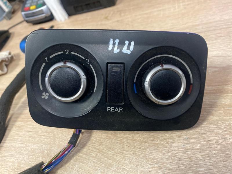 Блок управления климат-контролем Mitsubishi Pajero 4 V87W 4M41 2006 задний (б/у)
