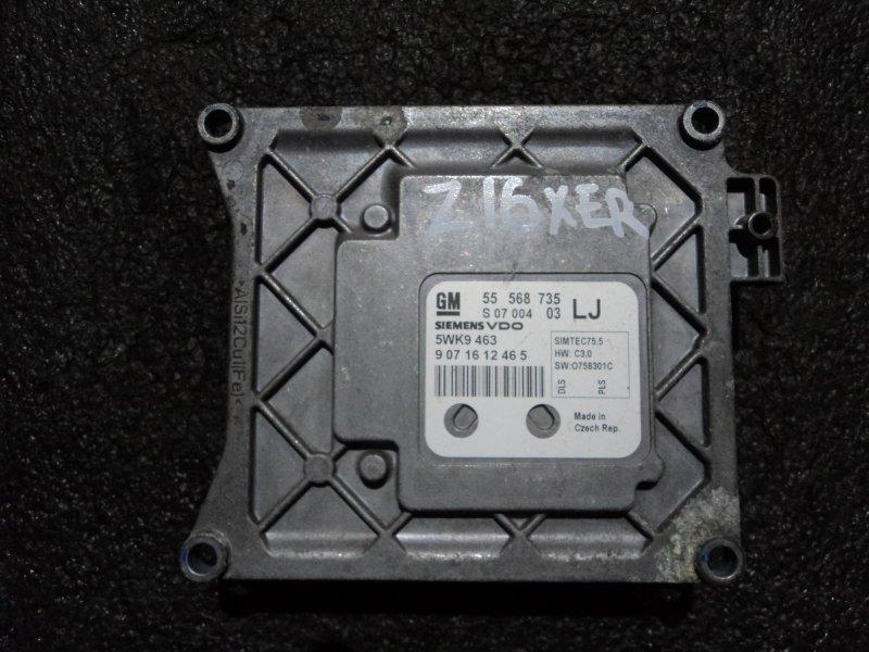 Блок управления двигателем Opel Astra Z16XER (б/у)