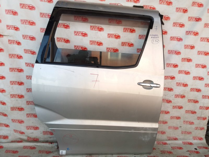 Дверь боковая Toyota Alphard ANM10 задняя правая (б/у)