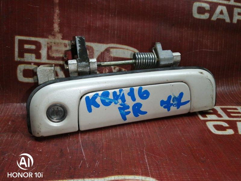 Ручка двери внешняя Toyota Grandhiace KCH16-0031338 1KZ-TE 2002 передняя правая (б/у)