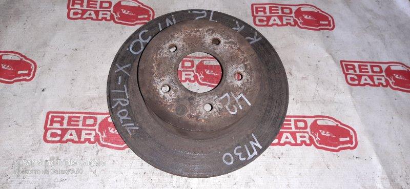 Тормозной диск Nissan X-Trail NT30 QR20 2001 задний (б/у)