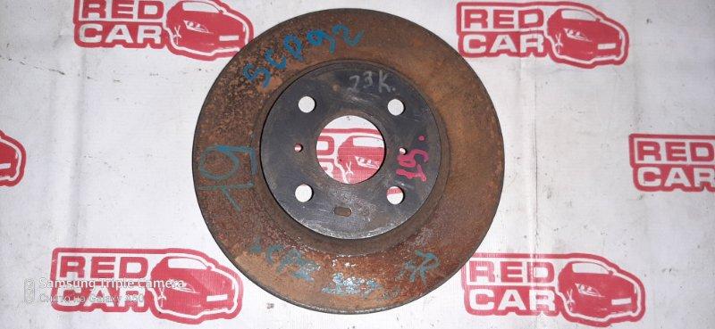 Тормозной диск Toyota Belta SCP92 1SZ передний правый (б/у)