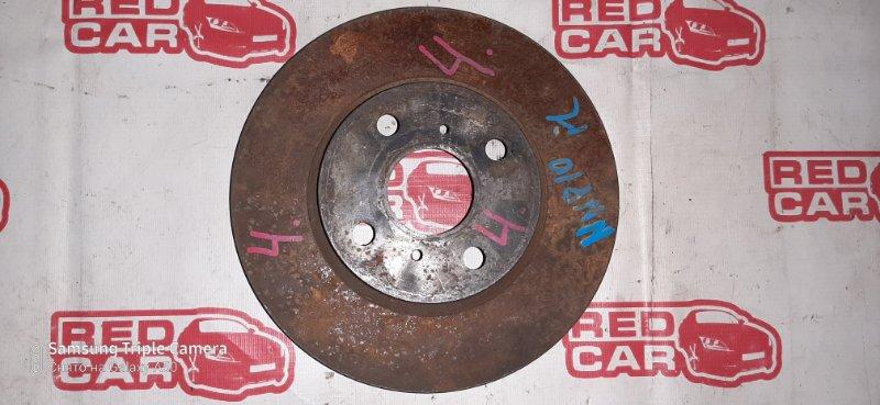 Тормозной диск Toyota Porte NNP10 1NZ передний левый (б/у)