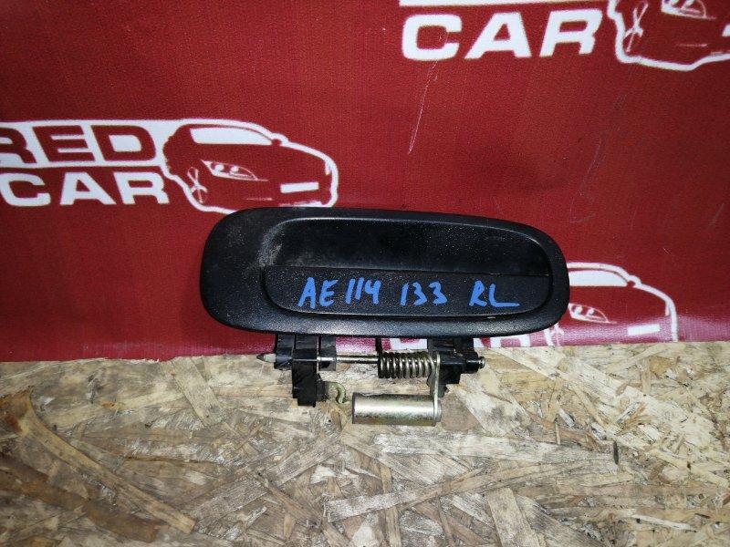 Ручка двери внешняя Toyota Sprinter Carib AE114-7014154 4A 2000 задняя левая (б/у)