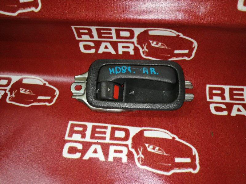 Ручка двери внутренняя Toyota Land Cruiser HDJ81-0047581 1HD 1994 задняя правая (б/у)