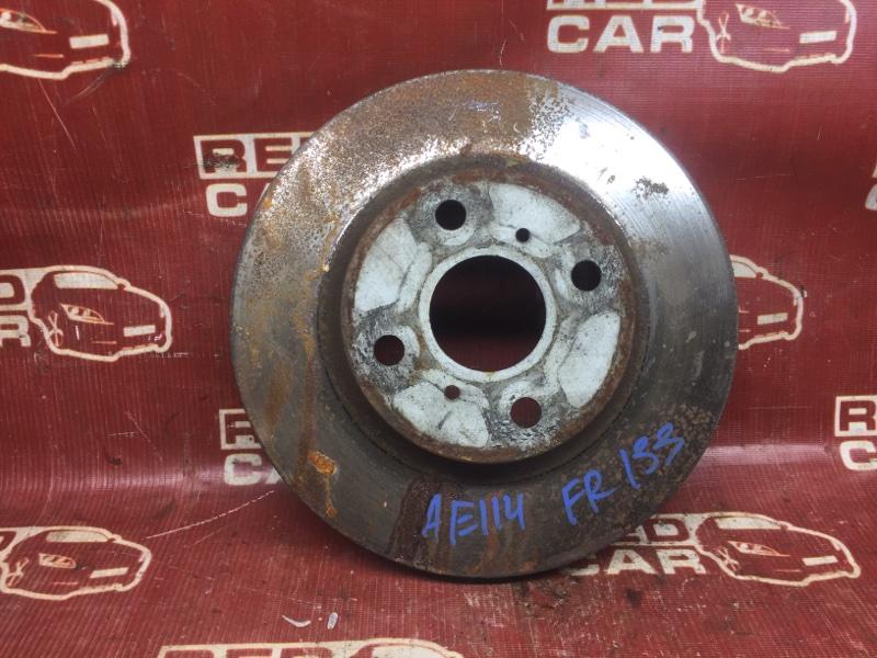 Тормозной диск Toyota Sprinter Carib AE114-7014154 4A 2000 передний (б/у)