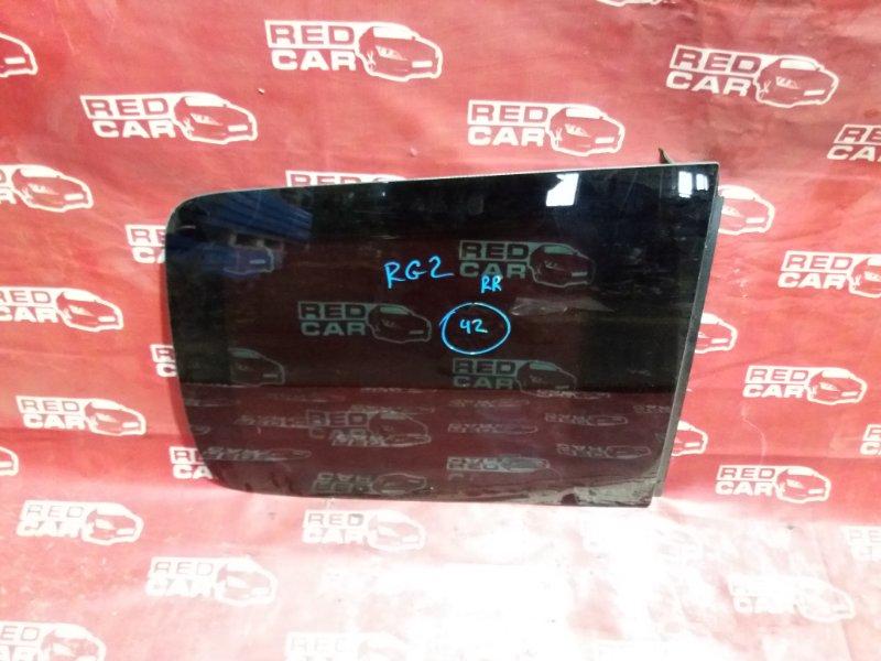 Стекло собачника Honda Stepwgn RG2-1100800 K20A 2006 заднее правое (б/у)