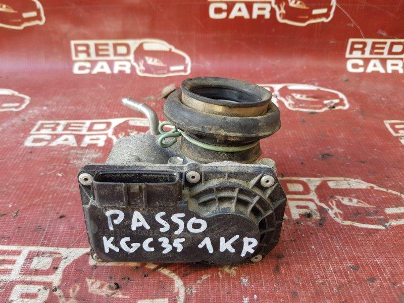 Дроссельная заслонка Toyota Passo KGC35 1KR (б/у)