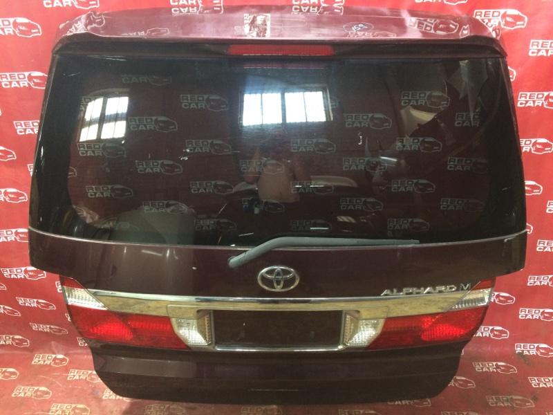 Дверь задняя Toyota Alphard ANH15-0016419 2AZ 2003 (б/у)