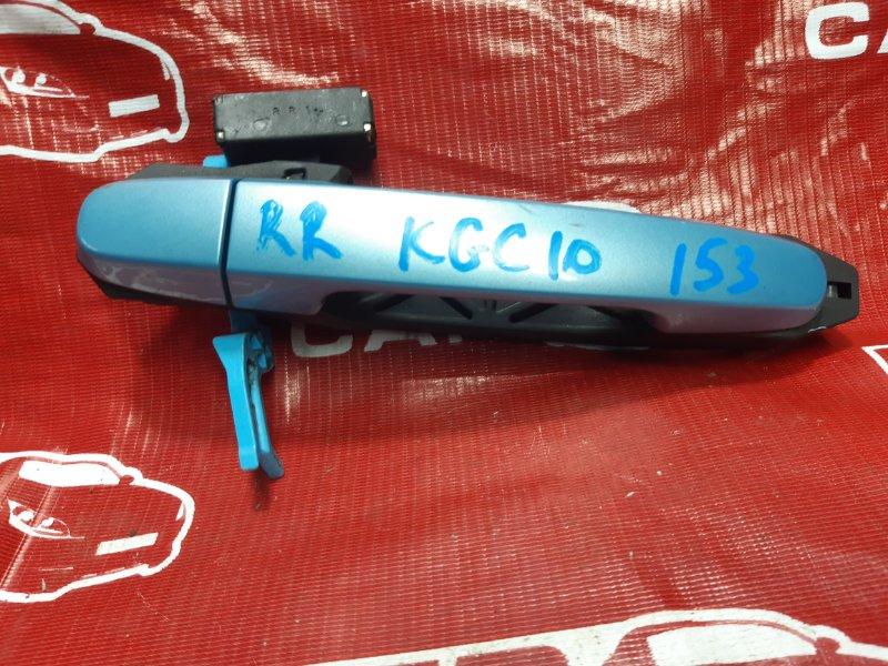 Ручка двери внешняя Toyota Passo KGC10-0051246 1KR 2005 задняя правая (б/у)