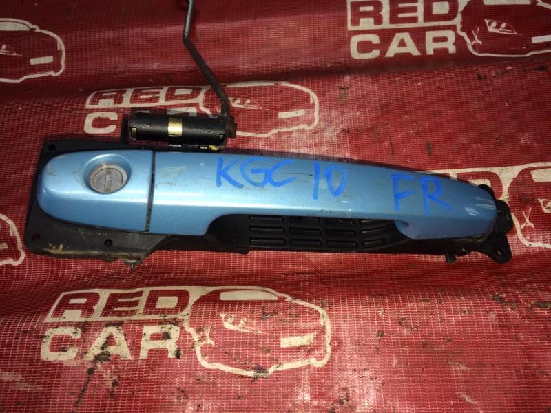 Ручка двери внешняя Toyota Passo KGC10 передняя правая (б/у)