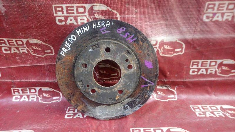 Тормозной диск Mitsubishi Pajero Mini H58A передний (б/у)