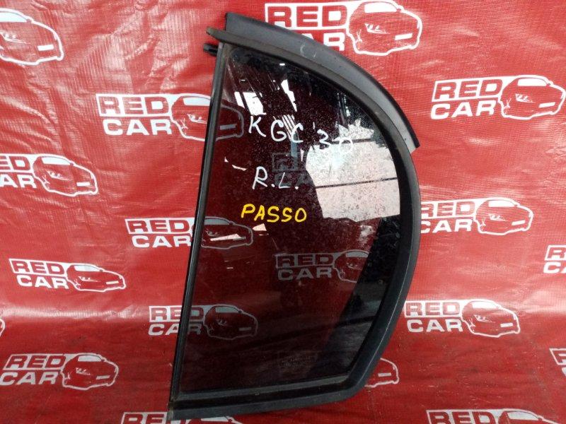Форточка двери Toyota Passo KGC30 задняя левая (б/у)