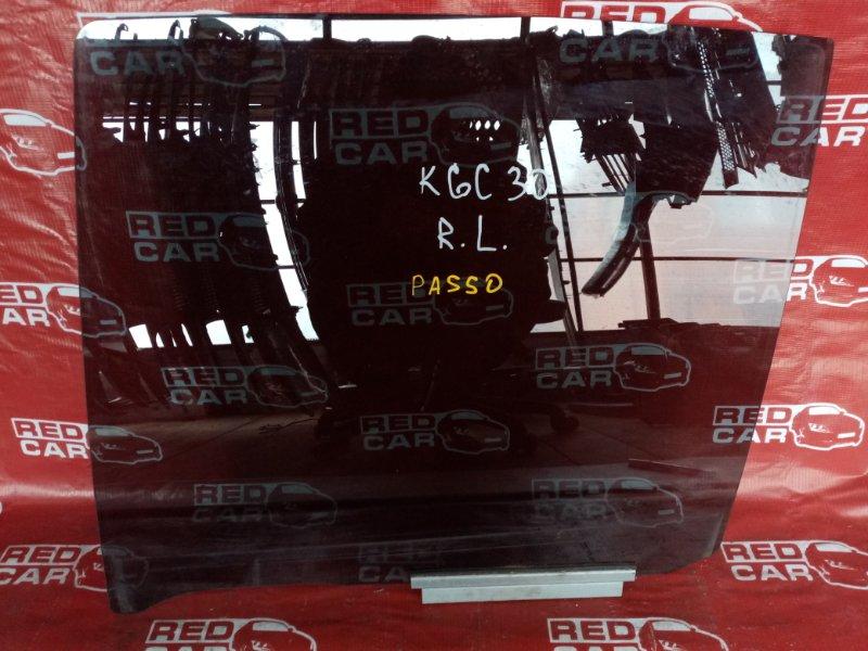 Стекло двери Toyota Passo KGC30 заднее левое (б/у)